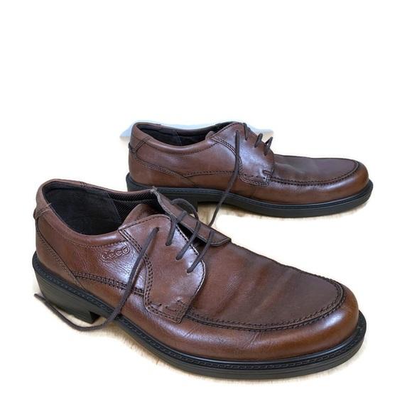 Mens Brown Oxford Dress Shoe Eur 44